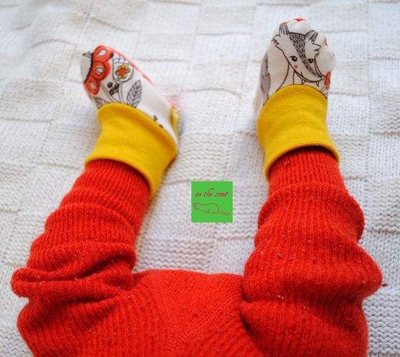 Makerist - erste selbstgenähte Söckchen aus Jersey für die kleine Princessa - Nähprojekte - 2