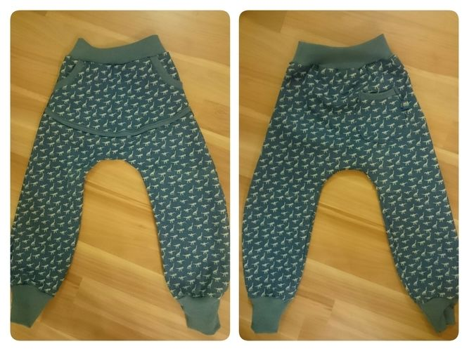 Makerist - coole Dino Jeans mit großer Autosammeltasche vorne und Label an der Potasche  für meine Zwillingsjungs  - Nähprojekte - 1
