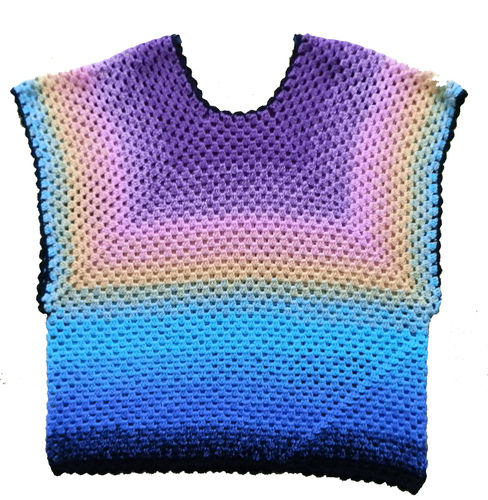 Makerist - Bunte Bluse mit Granny Muster gehäkelt - Häkelprojekte - 1