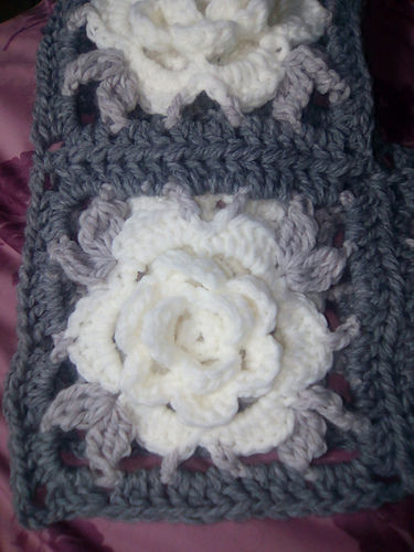 Makerist - Rosen Granny Poncho - Häkelprojekte - 3
