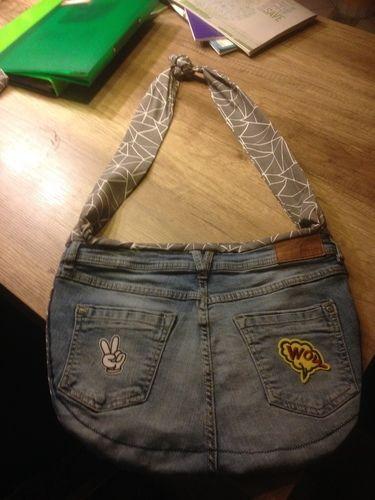 Makerist - Wendetasche aus alter Jeans und Baumwollstoff! Nikolausgeschenk für meine Töchter! - Nähprojekte - 1