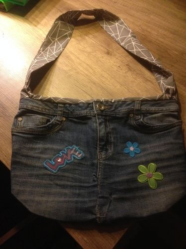 Makerist - Wendetasche aus alter Jeans und Baumwollstoff! Nikolausgeschenk für meine Töchter! - Nähprojekte - 2