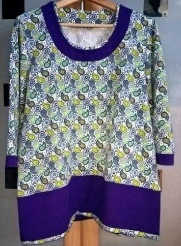 Makerist - T-Shirt mit angesetzter Blende (selbst konstruiert und maßgeschneidert) - Nähprojekte - 1