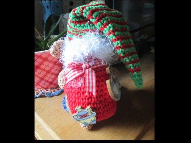 Makerist - Nikolaus mit Rucksack aus Baumwolle wird er ein Geschenk für meine Schwiegertochter. - Häkelprojekte - 2