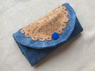 """Makerist - Purse """"Hanna"""" with cork fabric appliqué - 1"""