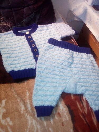 Makerist - Baby Jäckchen mit Höschen für mein Enkelbaby - Strickprojekte - 1