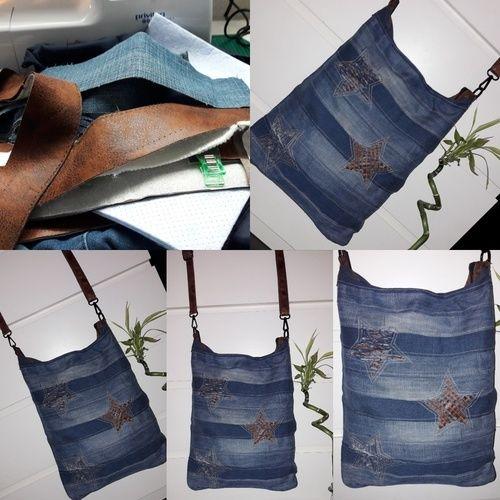 """Makerist - ❤ CHOBE❤ wie aus meine alten jeans und Tasche eine """"neue Tasche"""" würde - Nähprojekte - 1"""