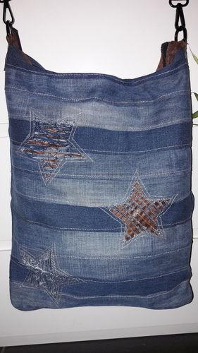 """Makerist - ❤ CHOBE❤ wie aus meine alten jeans und Tasche eine """"neue Tasche"""" würde - Nähprojekte - 3"""