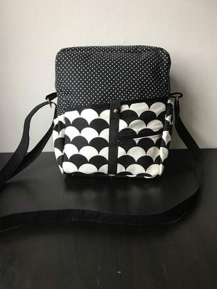 """Makerist - Handtasche """"Mini-Valerie"""" in schwarz-weiß - 1"""