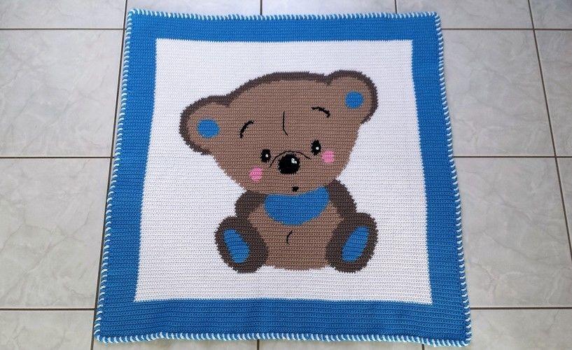 Makerist - Babydecke für kleine Jungs - Häkelprojekte - 1