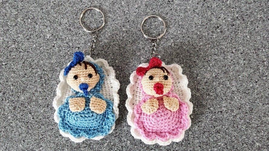Makerist - Schlüsselanhänger für Mamis und Papis - Häkelprojekte - 1