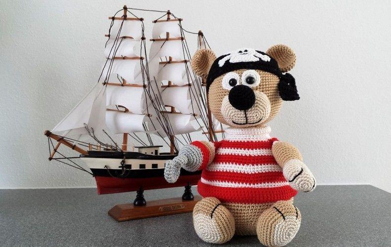 Makerist - Jack Bäro der kleine Pirat - Häkelprojekte - 1