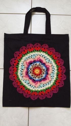 Makerist - Stofftaschen mit Mandalas - Häkelprojekte - 1