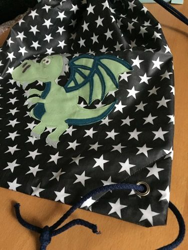 Makerist - Drachen Turnbeutel - Nähprojekte - 2