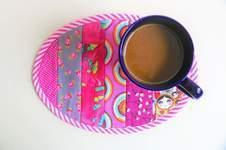 Makerist - Ovaler Mug Rug von SewSimple - 1