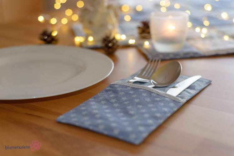 Makerist - weihnachtliche Bestecktasche (Freebook) - Nähprojekte - 2