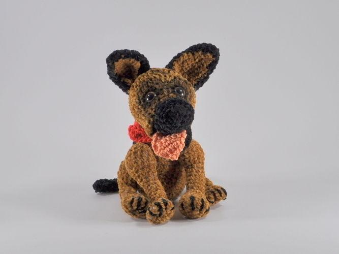 Makerist - Schäferhund Rex Häkelanleitung - Häkelprojekte - 1