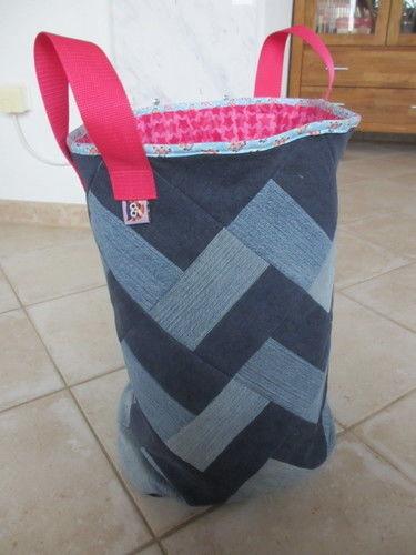 Makerist - Wäschekorb aus alten Jeans - Nähprojekte - 1