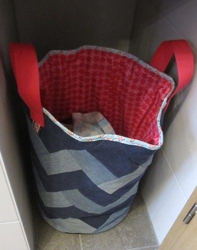 Makerist - Wäschekorb aus alten Jeans - Nähprojekte - 2