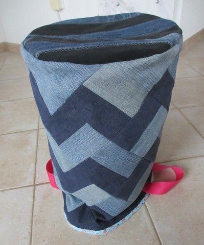 Makerist - Wäschekorb aus alten Jeans - Nähprojekte - 3