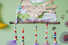 Makerist - Traumfänger mit Vögelchen - 1