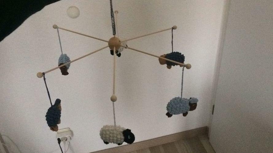 Makerist - Schäfchen-Mobilè - Häkelprojekte - 3