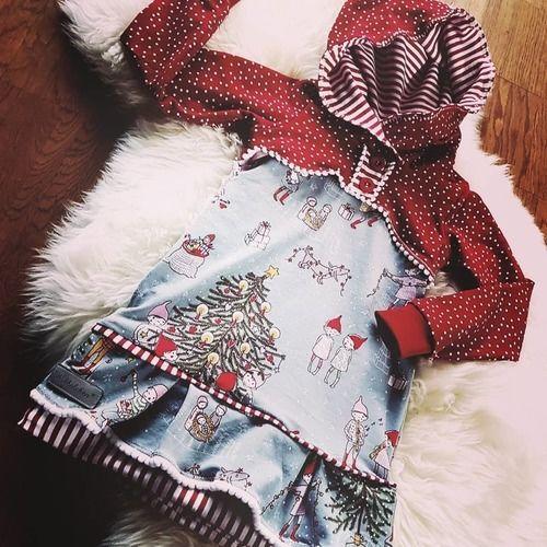 Makerist - Wichtel-Weihnachtskleid in Gr. 98 - Nähprojekte - 1