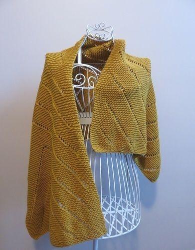 Makerist - Maxi étole moutarde - Créations de tricot - 1