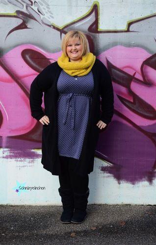 Makerist - Oversizeliebe von Jojolino als Kleid für die curvy Lady - Schnürpelinchen - Nähprojekte - 1