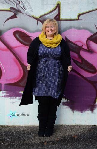 Makerist - Oversizeliebe von Jojolino als Kleid für die curvy Lady - Schnürpelinchen - Nähprojekte - 3