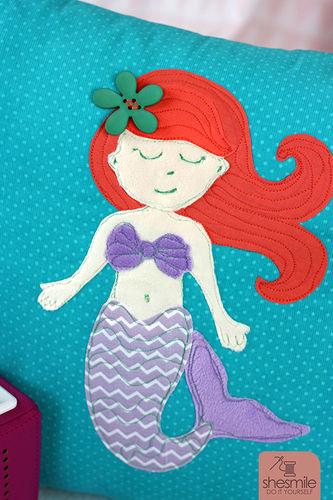 Makerist - Eine Meerjungfrau zur bestandenen Seepferdchen-Prüfung! - Nähprojekte - 2