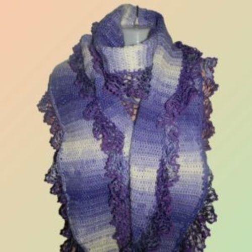 Makerist - Schal mit Rüscheln - Häkelprojekte - 1