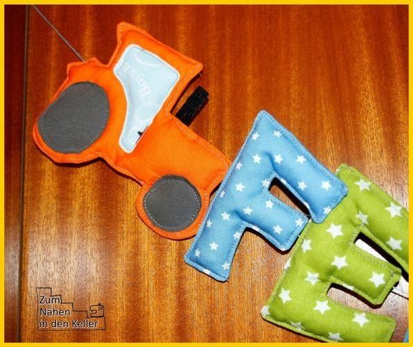 Makerist - Namenskette für die Kinderzimmertüre - Nähprojekte - 1