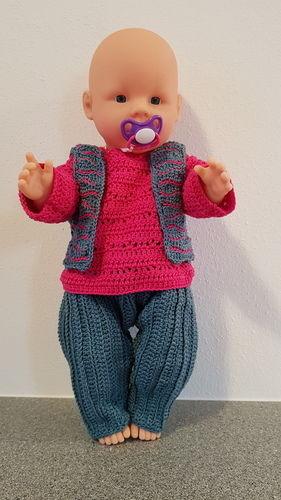 Makerist - Freizeitdress für Babypuppe - Häkelprojekte - 1