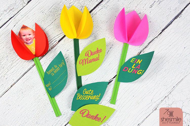 Makerist - Papiertulpen als Einladungskarte - DIY-Projekte - 3