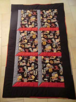 Makerist - Route 66  -diese Decke ist  für meinen Bruder (Motorradfreak) :)) - 1