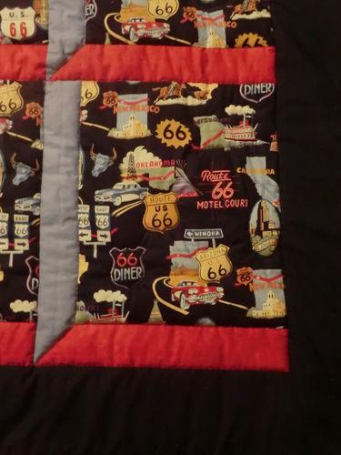 Makerist - Route 66  -diese Decke ist  für meinen Bruder (Motorradfreak) :)) - Patchwork-Projekte - 2