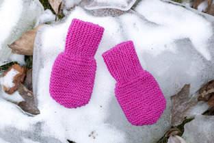 Makerist - Babyhandschuhe - sehr einfach in Reihen gestrickt - 1