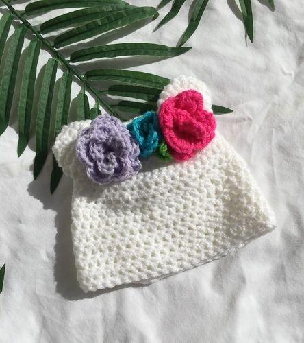 Makerist - flower crown beanie - Crochet Showcase - 1