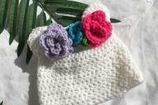Makerist - flower crown beanie - 1