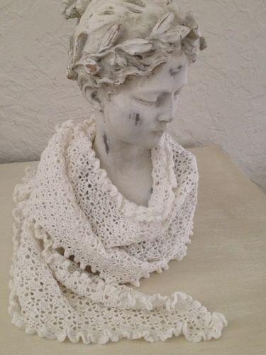 Makerist - Châle blanc comme neige  - Créations de tricot - 1