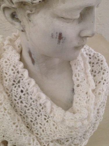 Makerist - Châle blanc comme neige  - Créations de tricot - 3