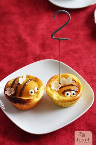 Makerist - Bienen-Käsekuchen-Muffins - 1