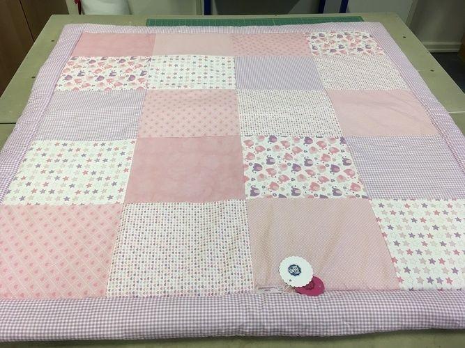 Makerist - Babydecke rosa Elefant - Nähprojekte - 1