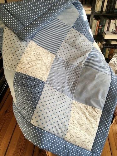 Makerist - Babydecke jeans Herzen - Nähprojekte - 1