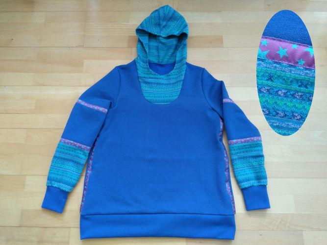 Makerist - Sweat-Pulli kobaltblau Lady Serena - Variante Kapuze - Nähprojekte - 1