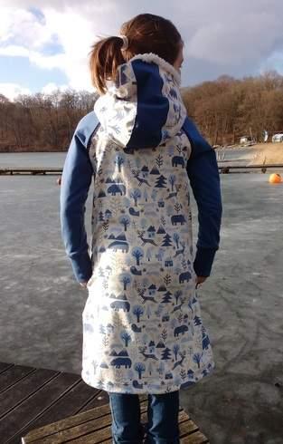 Makerist - Teen Hipster Dress Sweat-Kleid mit Kuschelkapuze - 1