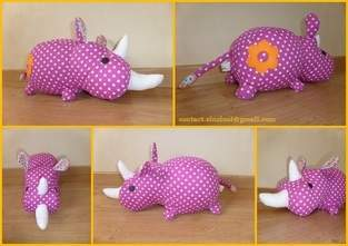 Makerist - Peluche Rhino rose - 1