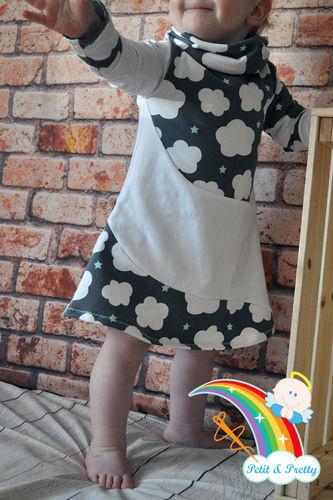 Makerist - Phia's Cool Curved Dress aus Jersey in Gr. 74 - Nähprojekte - 1