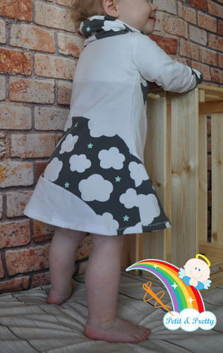 Makerist - Phia's Cool Curved Dress aus Jersey in Gr. 74 - Nähprojekte - 2